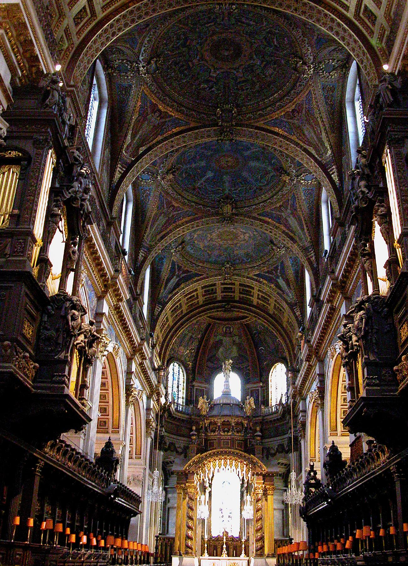 A picture of the venue for a combined concert using the combined resources of St Pauls Cathedral, London and also Westminster Abbey and Westminster Cathedral choirs  which took place on Wednesday November 21, 2018 appears below.